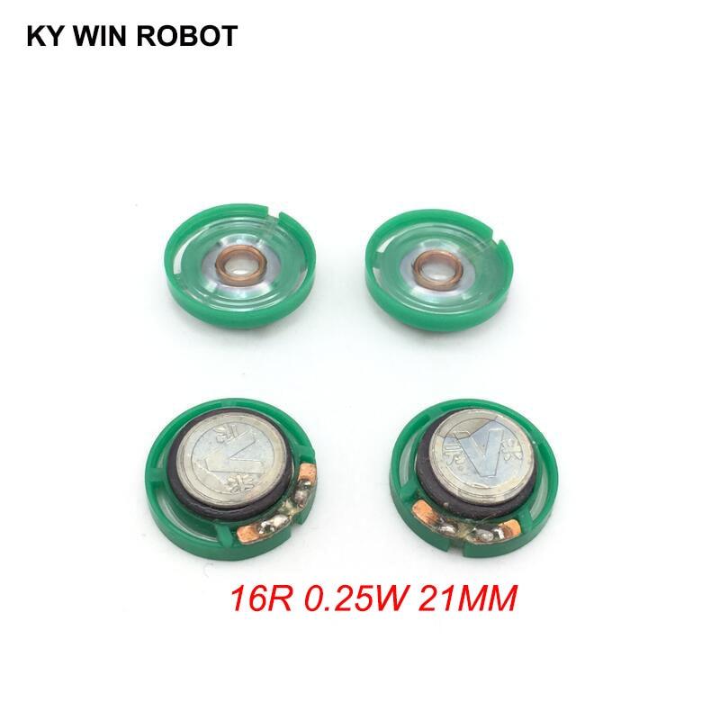 5pcs/lot New Ultra-thin Mini Speaker 16 Ohms 0.25 Watt 0.25W 16R Speaker Diameter 21MM 2.1CM Thickness 7MM