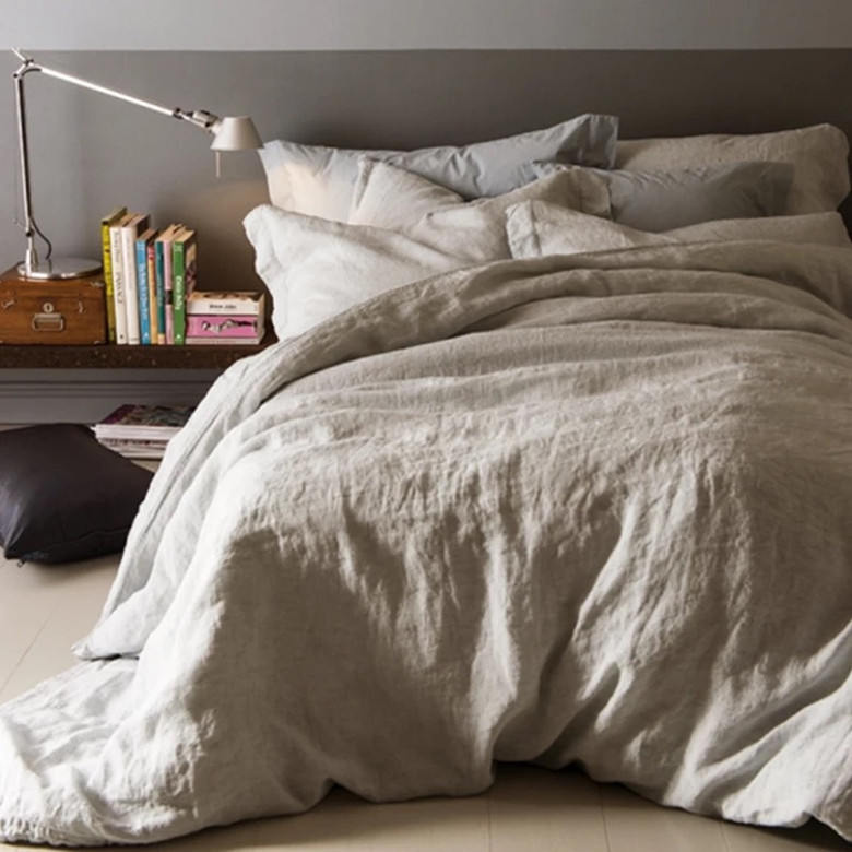 100/% Pure Linen Fitted Sheet 3psc//set  bed sets