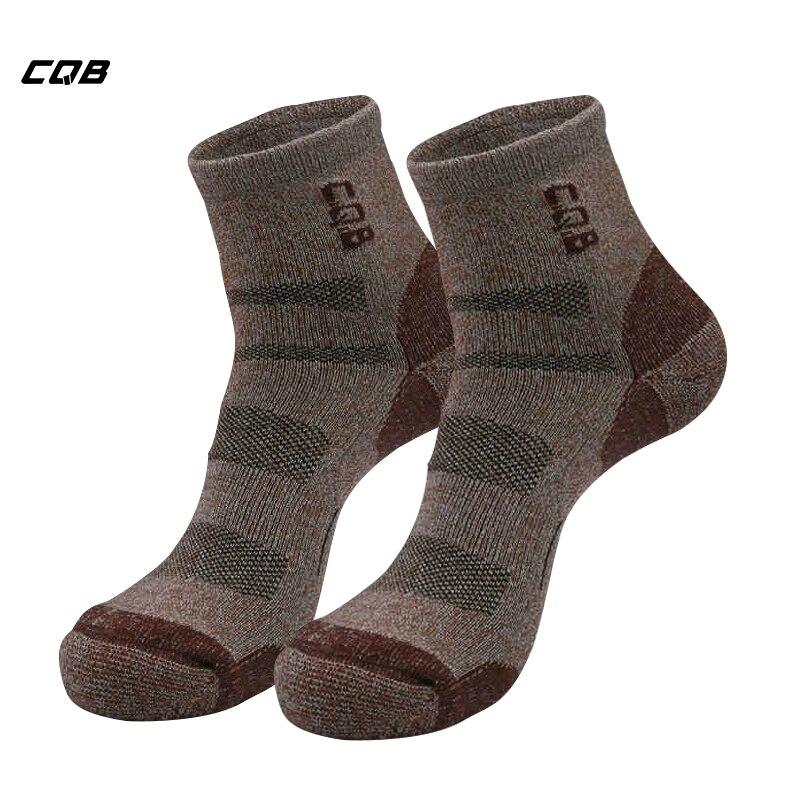 ①  CQB Открытый Quick Dry Носки Гольфы Спортивные походы Восхождение Футбол Велоспорт Носки Дышащие дез ①