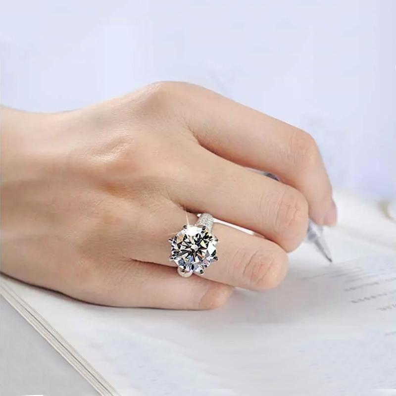 Big Stone 8 karat glans kristallringar för kvinnor Vintage - Märkessmycken - Foto 6