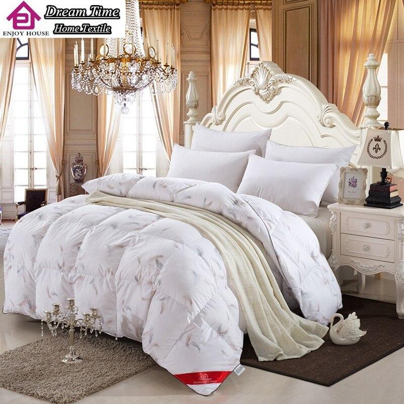 100 White Duck Goose Down Winter Quilt Comforter Blanket