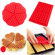 1Pc DIY Waffle Maker Silicone Mold Non-stick Kitchen Bakeware Cake Mould Makers For Oven High-temperature Baking Set
