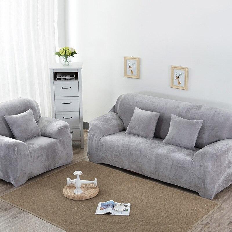 High Quality Solid Plush Sofa Cover Elastic Sofa