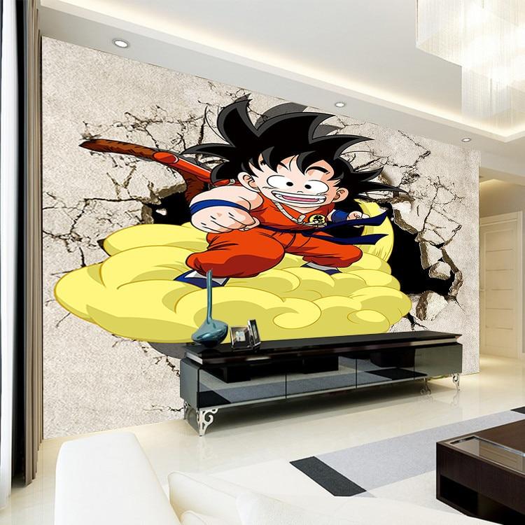 3D Dragon Ball Photo Wallpaper Japanese anime Wallpaper Custom Wall ...