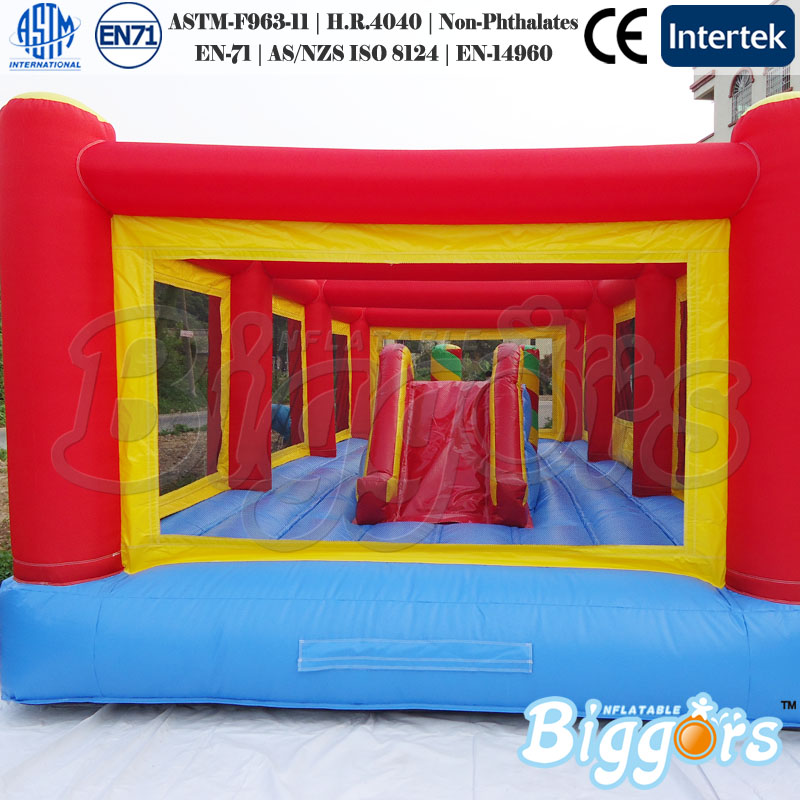 цена на Free Shipping By Sea 8x5x2.5m Inflatable Bouncer Castle Jumping Slide Playground