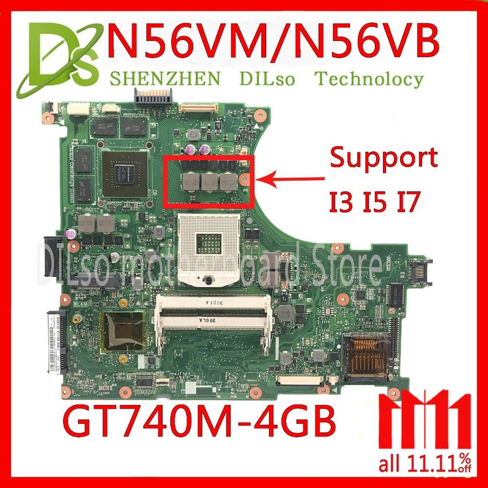 KEFU N56VM motherboard For ASUS N56VM N56VB N56VvV N56VJ N56VZ Laptop motherboard N56VM GT740 4G mainboard Test motherboard sheli n56vm motherboard for asus n56v n56vm n56vz n56vj laptop motherboard gt650m original tested mainboard n56vz