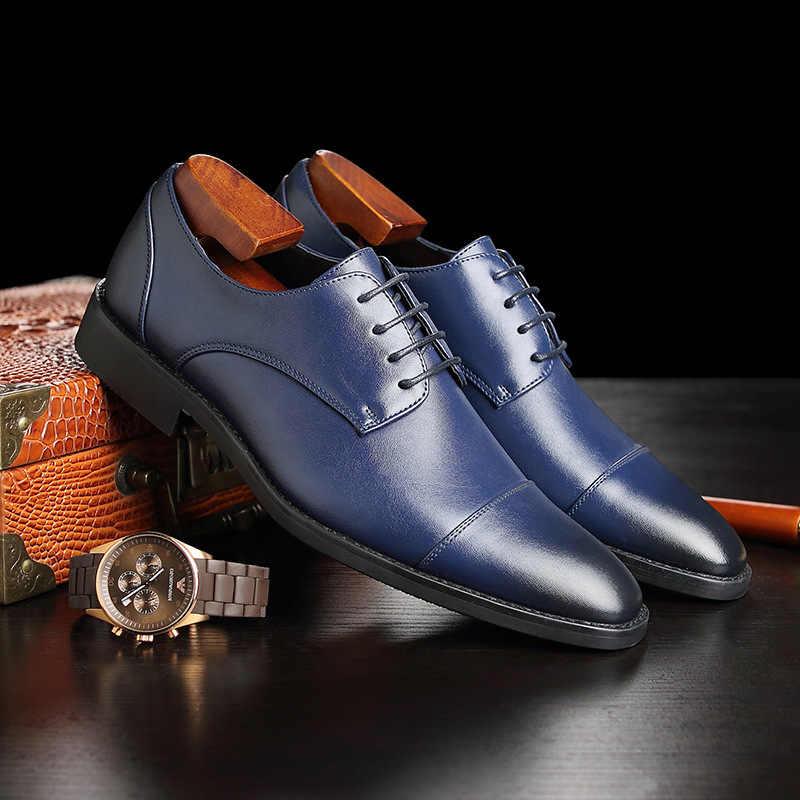 Business Leather England Male Men Shoes Leather Dress Leather Shoes Fashion Hot Selling Leather Casual Shoes Men