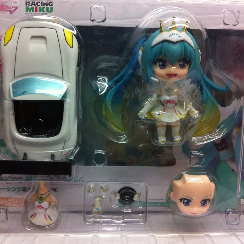 10cm Q version Japanese anime figma figure hatsune miku action figure Racing Miku Collection Model Kids Toy Doll for girl hatsune miku ride bicycle figma 307 racing miku 2015 teaomukyo support ver pvc figure collectible toy 15cm kt4009