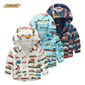 Children Jackets For Boys 2016 Spring Summer Hooded Printed Car Baby Boys Outerwear & Coats 2-10 Years Kids Windbreaker Clothes