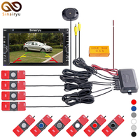 Dual Core CPU Car Video Parking Sensor Backup Radar Alarm System For Rearview Camera Auto Parking