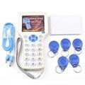 Super Handheld Rfid cartão NFC Escritor Leitor Copiadora cloner com tela + 5 Pcs 125 khz Gravável tag + 5 Pcs 13.56 mhz Cartão Mutável UID