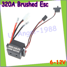 Wholesale 1pcs High Quality 320A 6-12V Brushed ESC Speed Controller With 2A BEC for RC Boat  Drop Free shipping