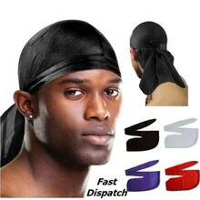 8 цветов, Мужская дышащая бандана Durag, плотно прилегающая спортивная повязка на голову Du Rag