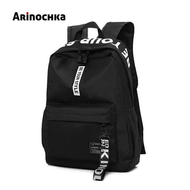 687a27c11d81 US $15.62 39% OFF|Fashion Letter Laptop Backpack Women Canvas Bags Men  Oxford Travel Rucksack Daypack Casual Bag School Bags for Teenager  Mochila-in ...