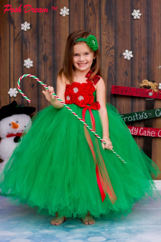 POSH DREAM Red Flower Girls Christmas Tutu Dress Red Green and White Christmas Weddings Pageants Photos Costume for Kids Girls a christmas carol and other christmas writings
