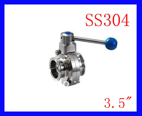 Hot 3.5 SS304 Sanitary stainless steel TC manual butterfly valve,Tri clamp butterfly valve good quality