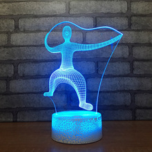 New Table Small Night 3s Lamp Creative Product 3d Small Lamp Color Remote Control Discoloration Usb Light Fixtures