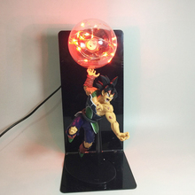 AC 85-265V Dragon Ball Z Goku Vegeta Battle Led Night Light RGB Lampara Son Action Figure Bulb Lamp EU US Plug