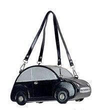 2016 neue neuheit männer und frauen handtaschen lustige kinder geschenk käfer auto geformt handtasche top class tragetaschen