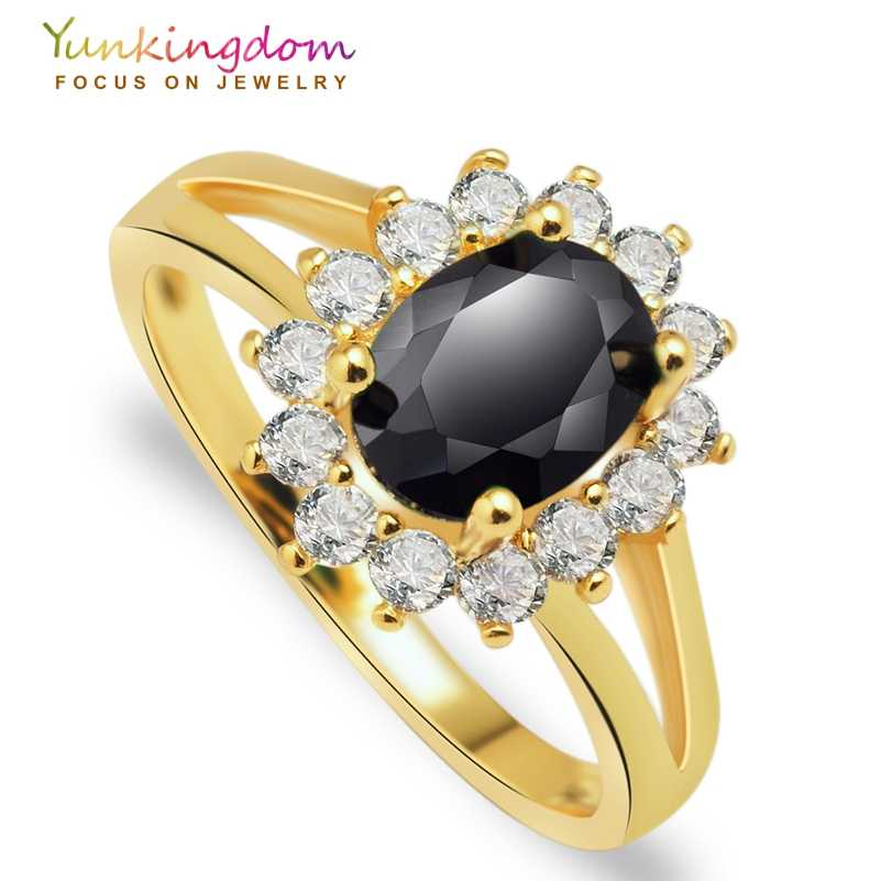 Yunkingdom Charms wedding rings for women gold color  women rings