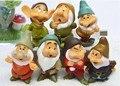7 unids/set de dibujos animados blancanieves of the 7 enanos figuras de acción set nuevo siete enanitos pvc lindo figuras 5 cm
