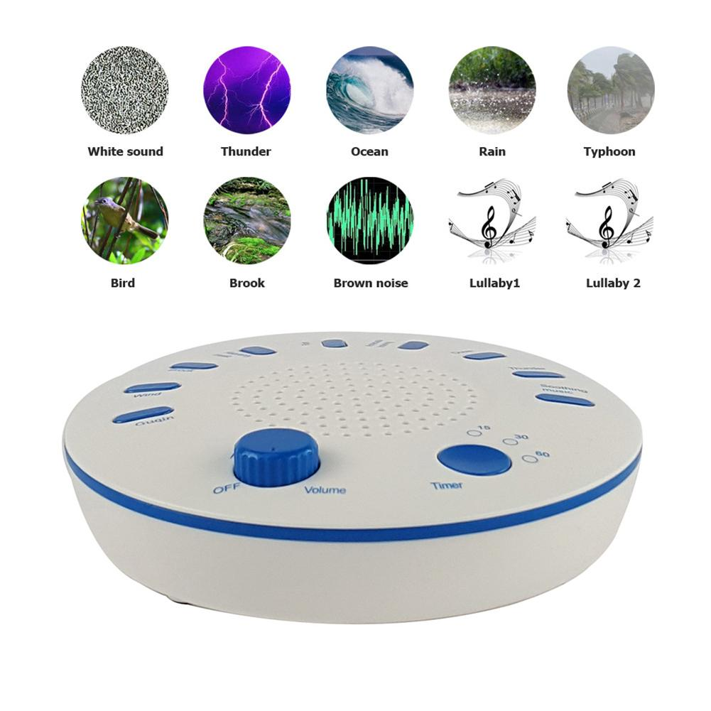 The different noise options in a white noise machine