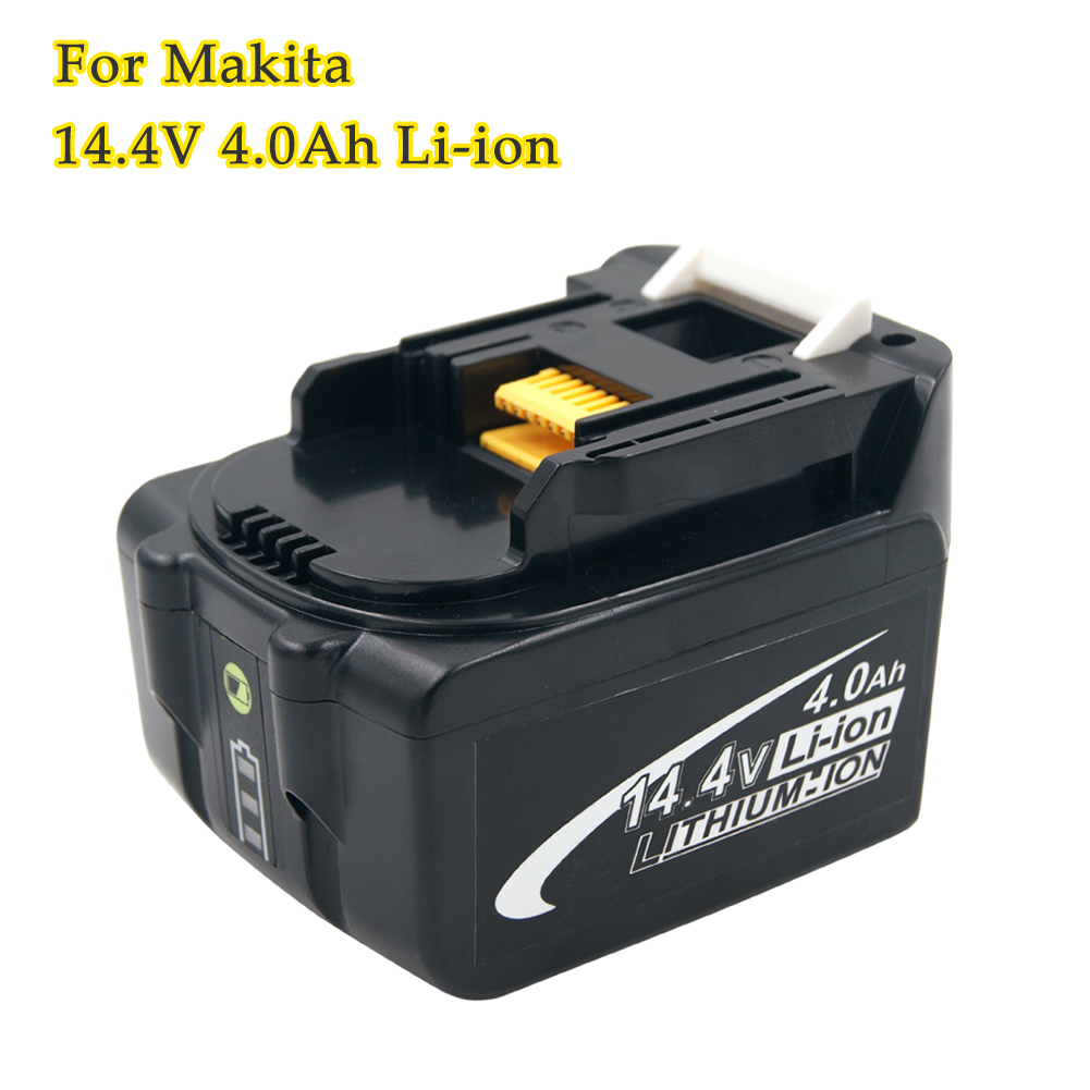 LED Indicator BL1440 14.4V 4.0Ah Lithium Ion Rechargeable Battery for Makita BL1430 194066-1 194065-3 Cordless Power Tools 2pcs lot 14 4v 3 0ah lithium ion power tools replacement battery for makita bl1430 da340drf bdf343 194065 3 194066 1 bl1430