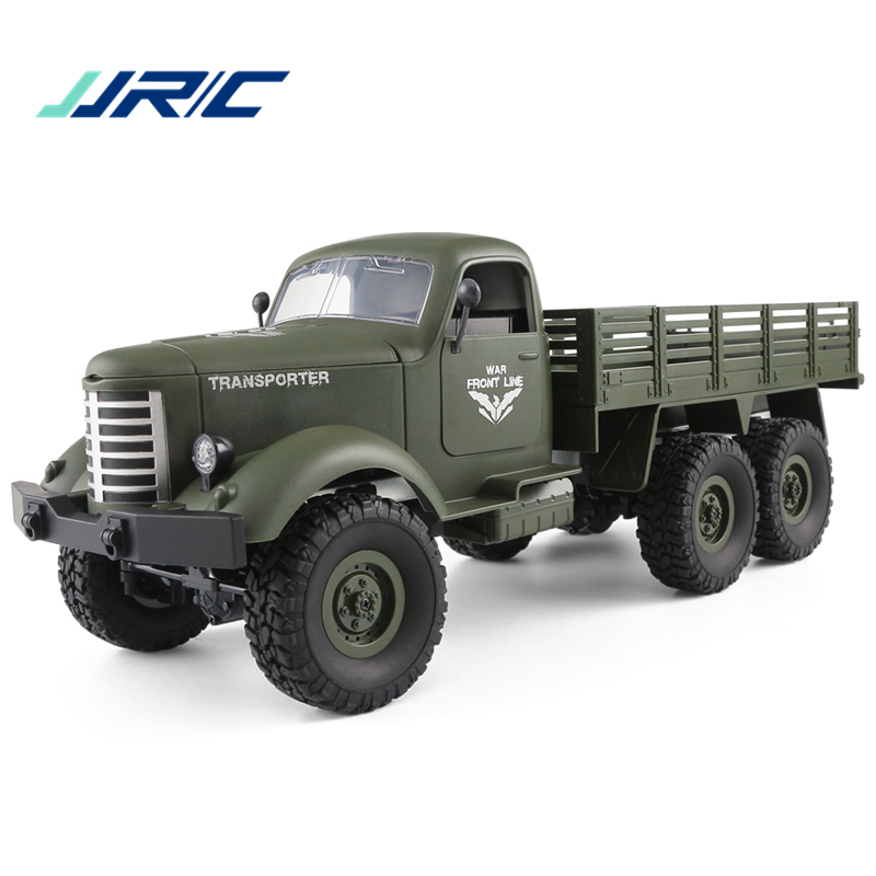 JJRC Q60 OFF ROAD Military Truck RC Truck 1 16 2 4G 6WD Powerful Engine Remote