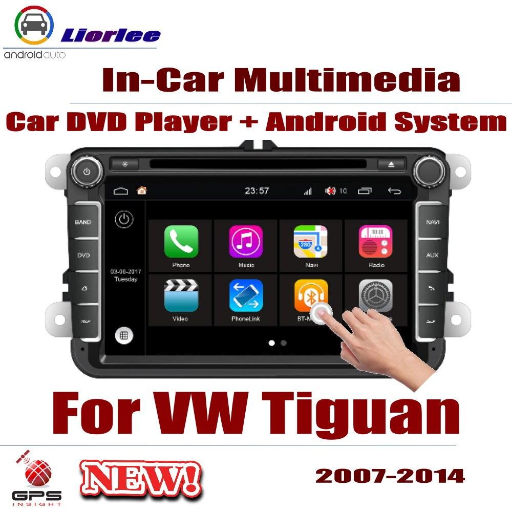 Autoradio lecteur DVD Navigation GPS pour Volkswagen VW Tiguan 2007 ~ 2014 système de lecteur Android Audio stéréo dans l'unité de tête de tableau de bord