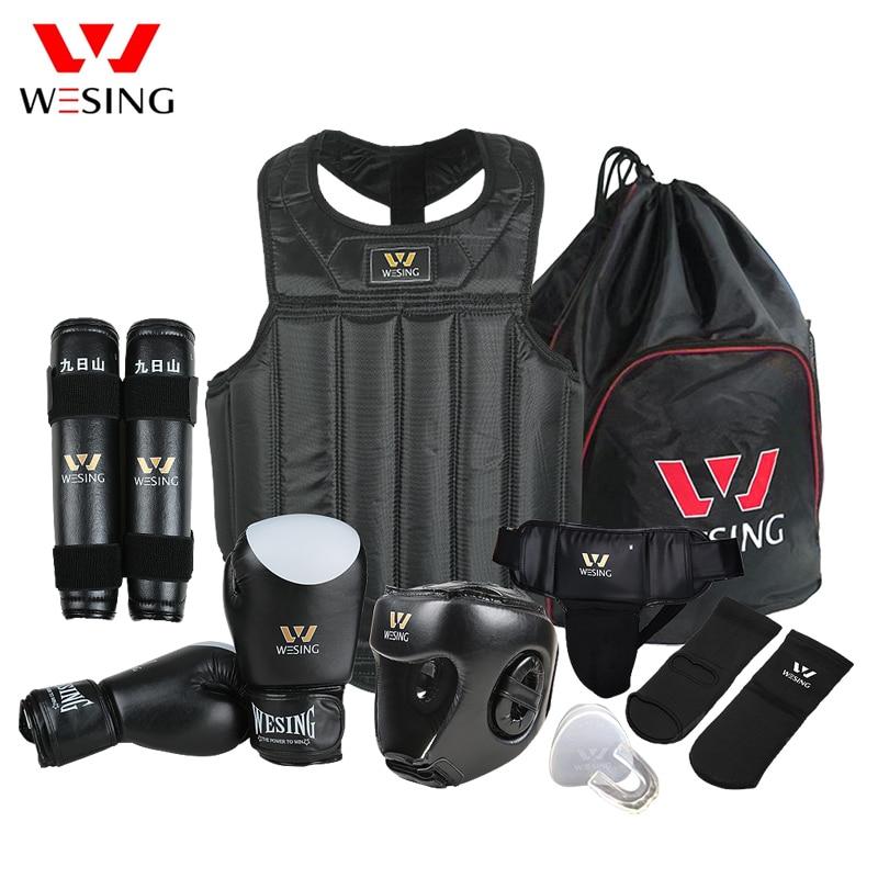 Wesing Martial Arts Gear Wushu Sanda Protector Set 8 pezzi Sanda - Abbigliamento sportivo e accessori