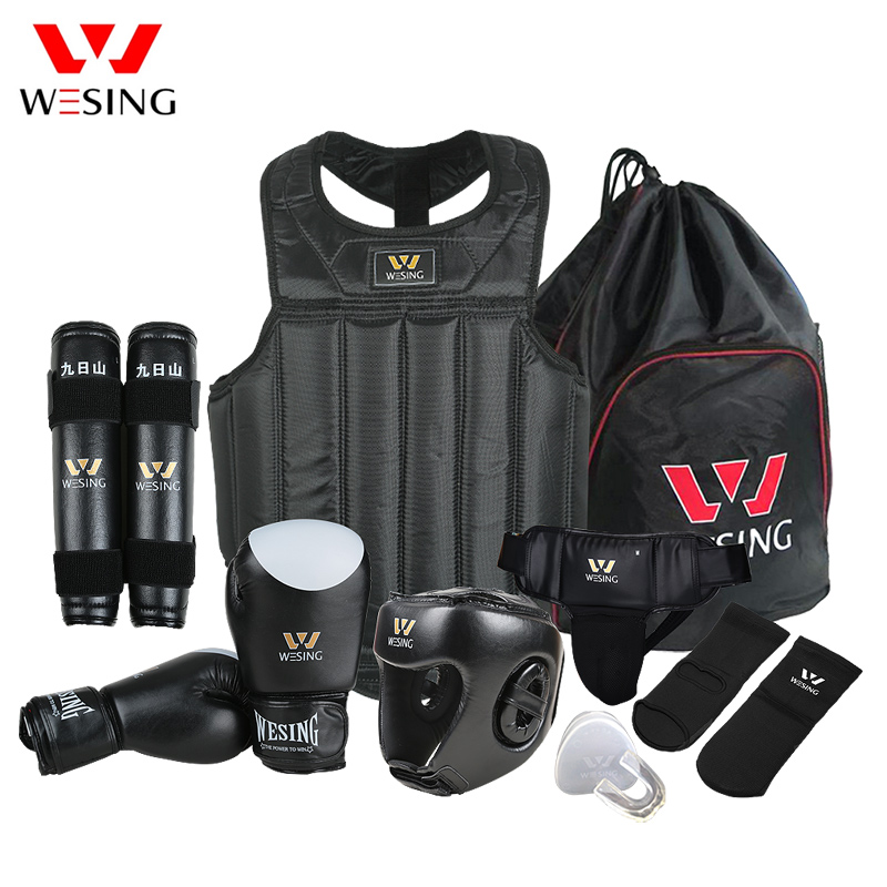 Wesing Kampfsportausrüstung Wushu Sanda Protector Set 8-teilig Sanda Wettkampfausrüstung für das Training