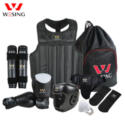 Wesing Martial Arts Gear Wushu Sanda Protector Set 8 Pcs Sanda Competition Equipment for Training