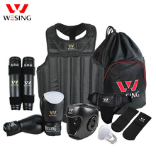 Wesing Martial Arts Gear sets Wushu Sanda Protector Sets 8 Pcs Sanda Competition Equipments for Training
