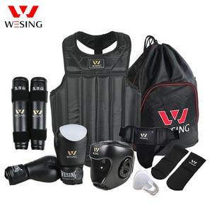Image 1 - Wesing Martial Arts Gear sets Wushu Sanda Protector Sets 8 Pcs Sanda Competition Equipments for Training