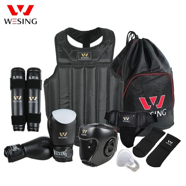 Wesing Martial Arts Gear sets Wushu Sanda Protector Sets 8 Pcs Sanda Competition Equipments for Training
