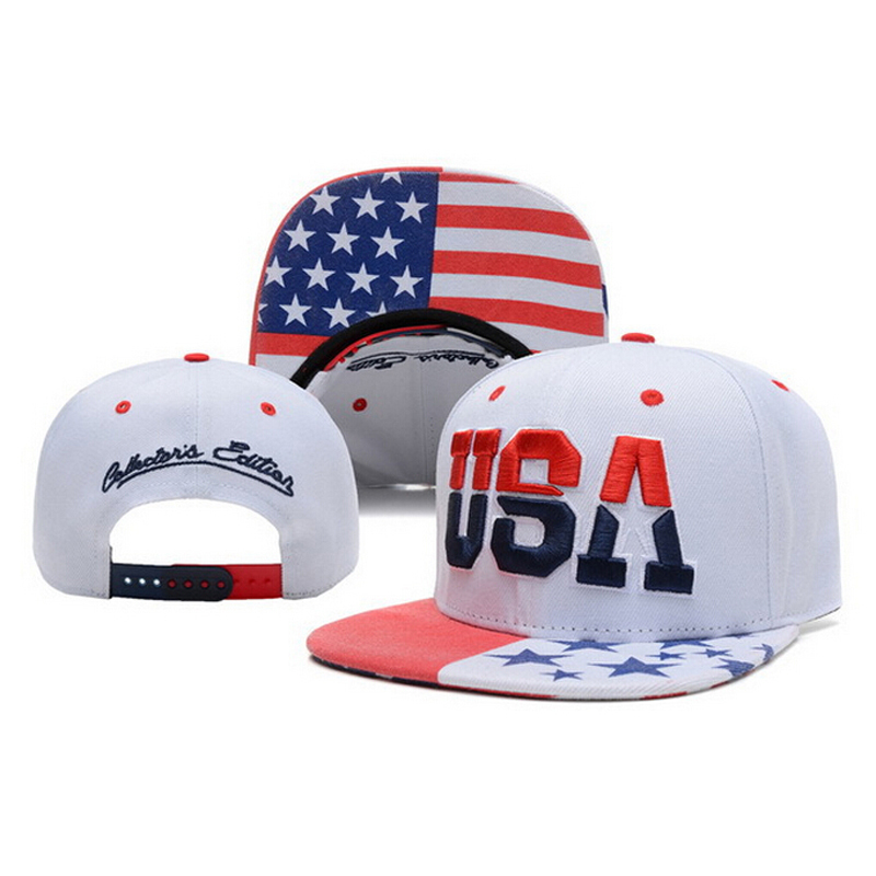 2015 New USA Flag Snapback Caps American Letter Adjustable ...
