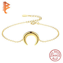 BELAWANG High Quality Golden 925 Sterling Silver Bullfighter Bracelet Adjustable Chain Bracelet for Women silver 925 jewelry(China)