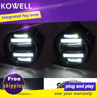 KOWELL Car Styling Fog Lamp for Ford focus fiesta Ecosport Mondeo Mustang LED DRL Daytime Running Light Automobile Accessories