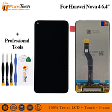 6.4 For Huawei Nova 4 LCD Display Touch Screen Digitizer Assembly with Frame Replacement