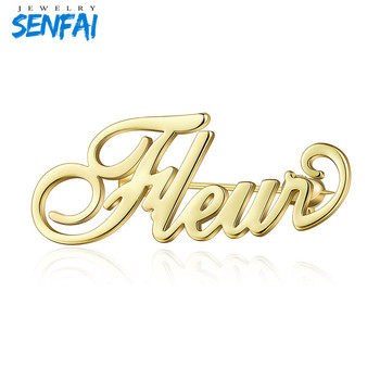 Senfai Fashion Customized Personalized Brooch Custom Name 3 Colors New Brand Brooches for Women Party Birthday Gift 7colors new metal ball pens 50pcs a lot for sale customized gift items for birthday party