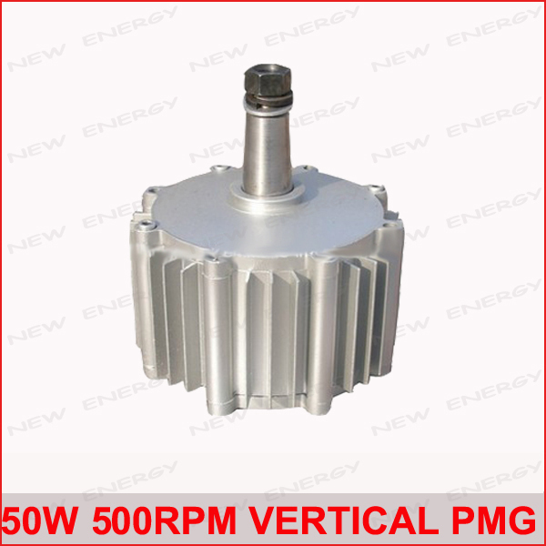 купить 50w 500rpm low speed vertical rare earth permanent magnet alternator wind turbine alternator motor недорого