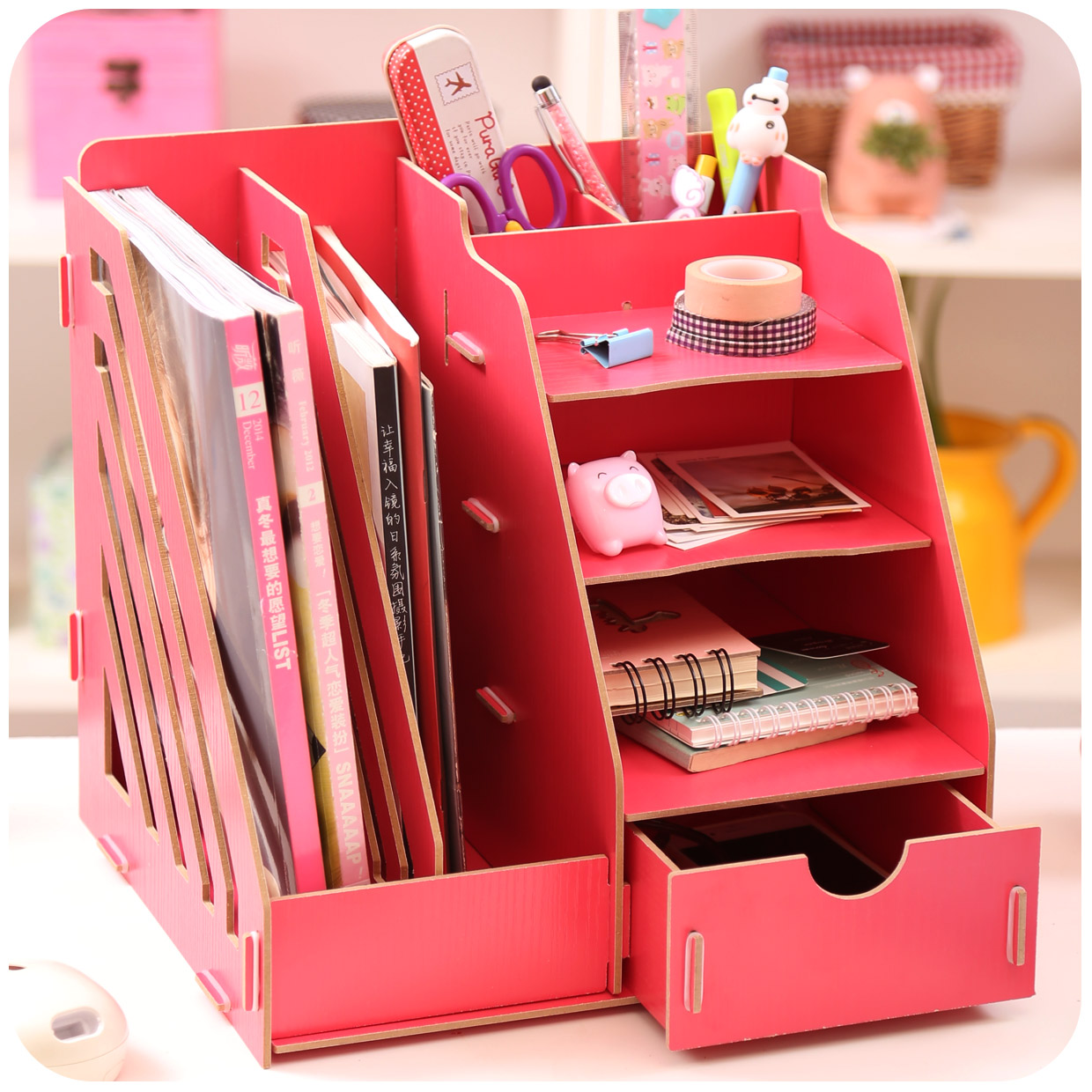 Aliexpress.com : Buy Creative DIY Wooden Desktop File ...
