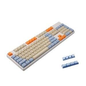 Image 1 - YMDK touches Mac PBT, épais, imprimé dessus, profil OEM, pour clavier mécanique Standard ANSI 61 TKL 108 MX