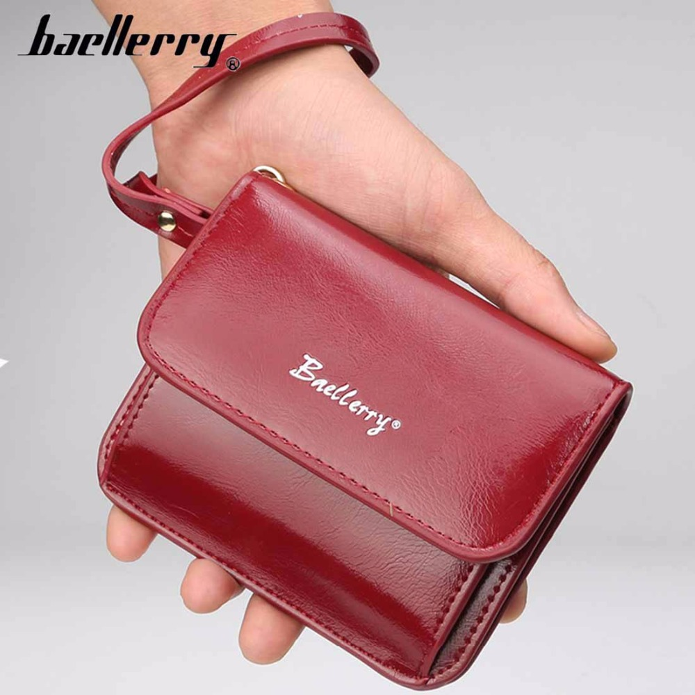 2018 Baellerry Fashion Women Wallet Cute Small PU Leather Card Holder Female Purse Red High Quality photo Holder Women Wallet