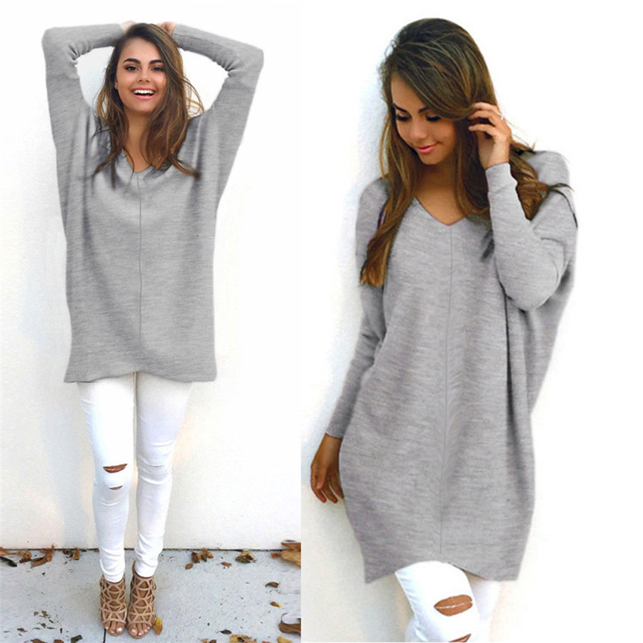 New Style Womens Sexy Casual Long Sleeve Jumper Sweaters
