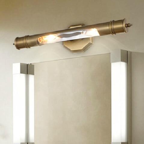 Full Copper Wall Lamp Sconce Waterproof Bathroom Mirror Light - Copper bathroom light fixtures
