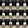 2016 New Fashion Zodiac Buddha card Vintage Gift Pendant 100% Real 925 sterling silver for women or men pendant fine jewelry ZP1