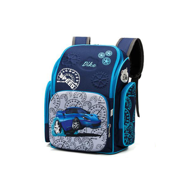 2017 kids 3D car cartoon printing backpacks children orthopedic school supplies school bags for Girls and boys school backpack
