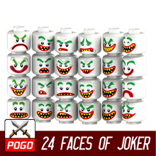 24pcs/pack Building Blocks Joker Head Face Diy Figures Marvel DC Suicide Squad Superhero Kids Toys Hobbies(China)