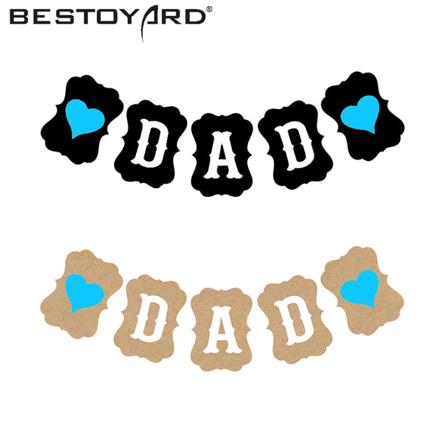 bestoyard 3m happy birthday daddy banner love heart dad banner for fathers day birthday event party decoration